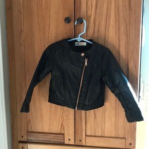 Toddler Faux Leather Motorcycle Jacket
